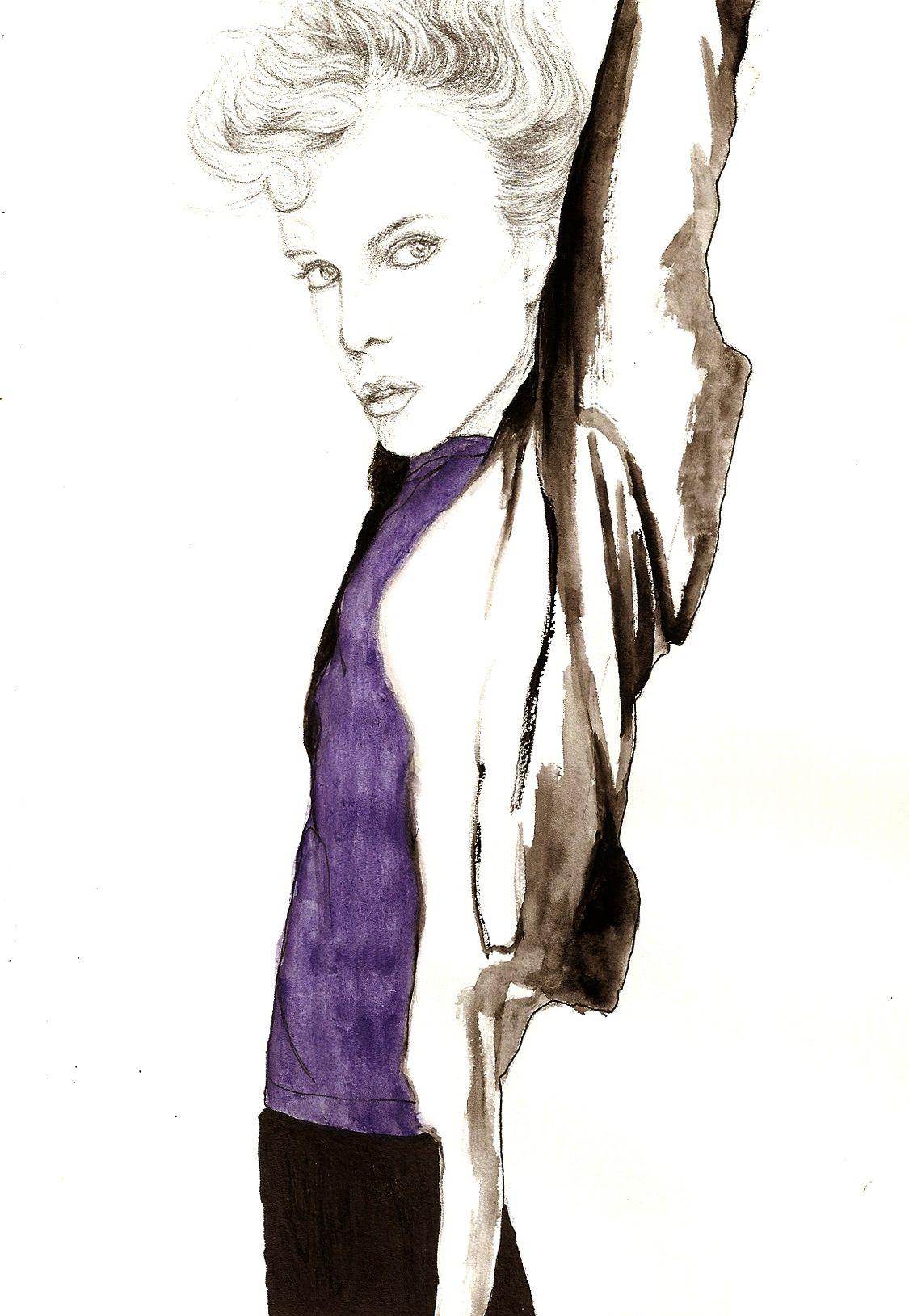 Fashion Illustration Glamour Magazine My Artwork