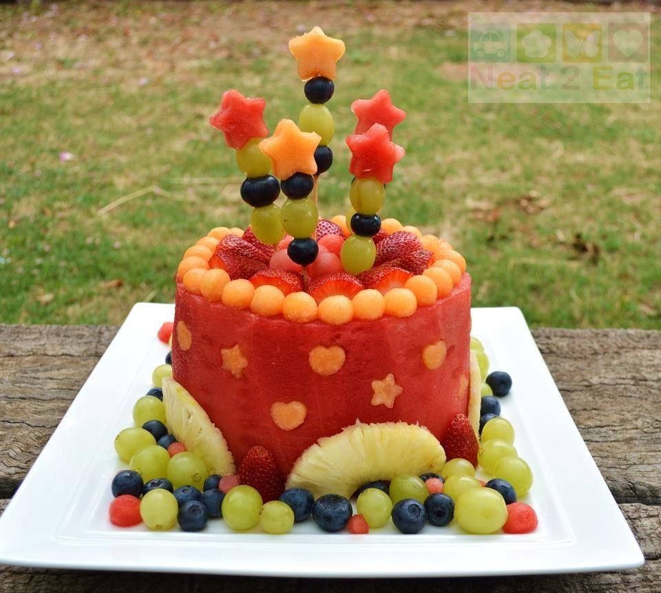 Cake With Fruit Birthday : Fruit cake Birthday Party Ideas Pinterest