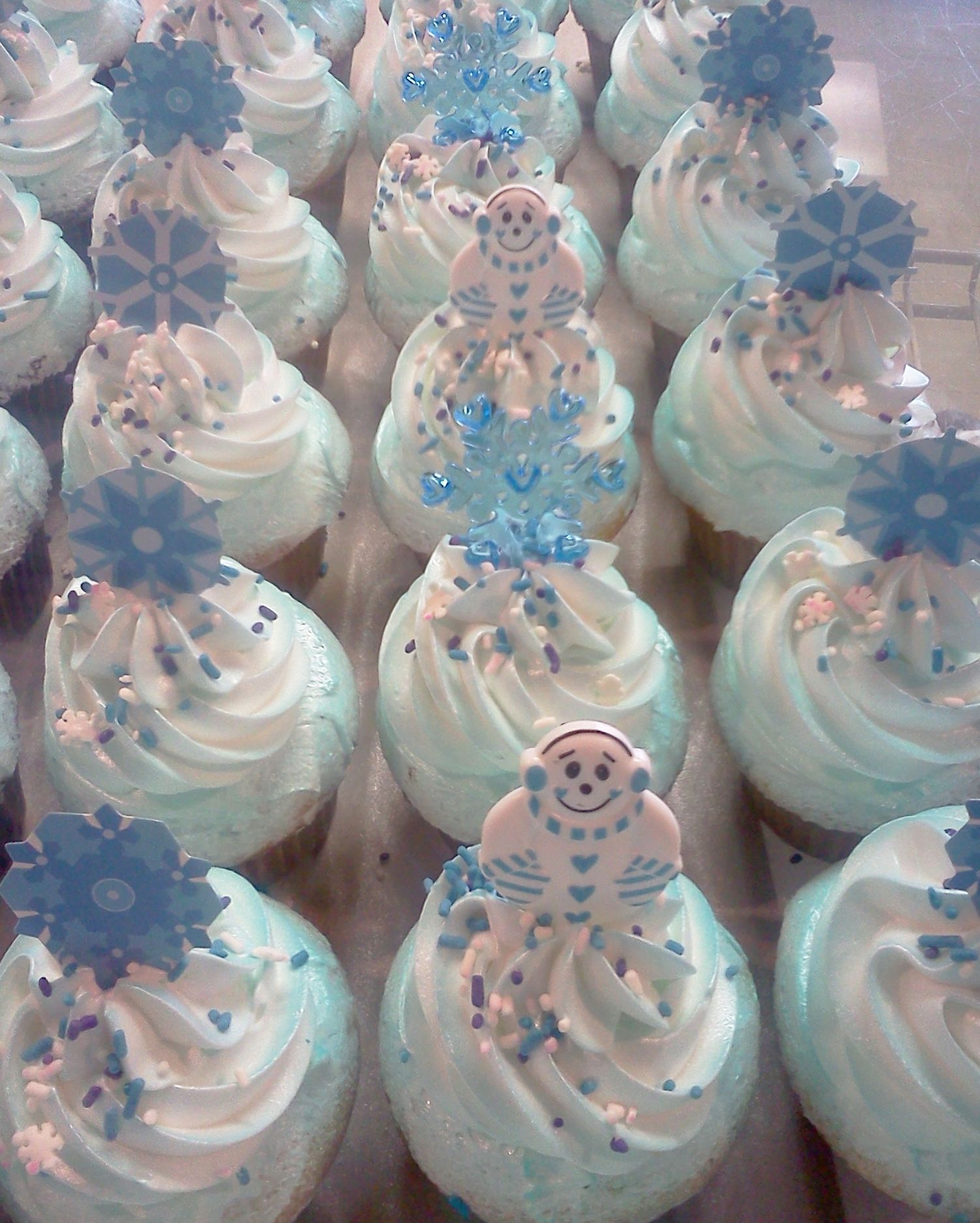 winter wonderland cupcake ideas