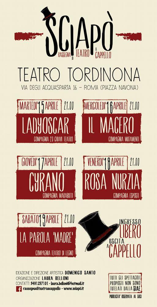 Sciapo' la rassegna di Teatro a Cappello 2014 Roma