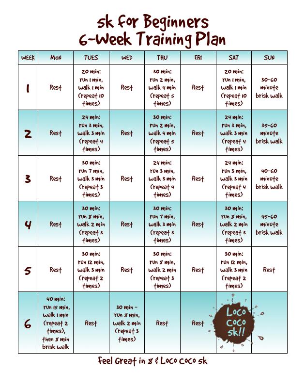 5K Walk Training Schedule for Beginners