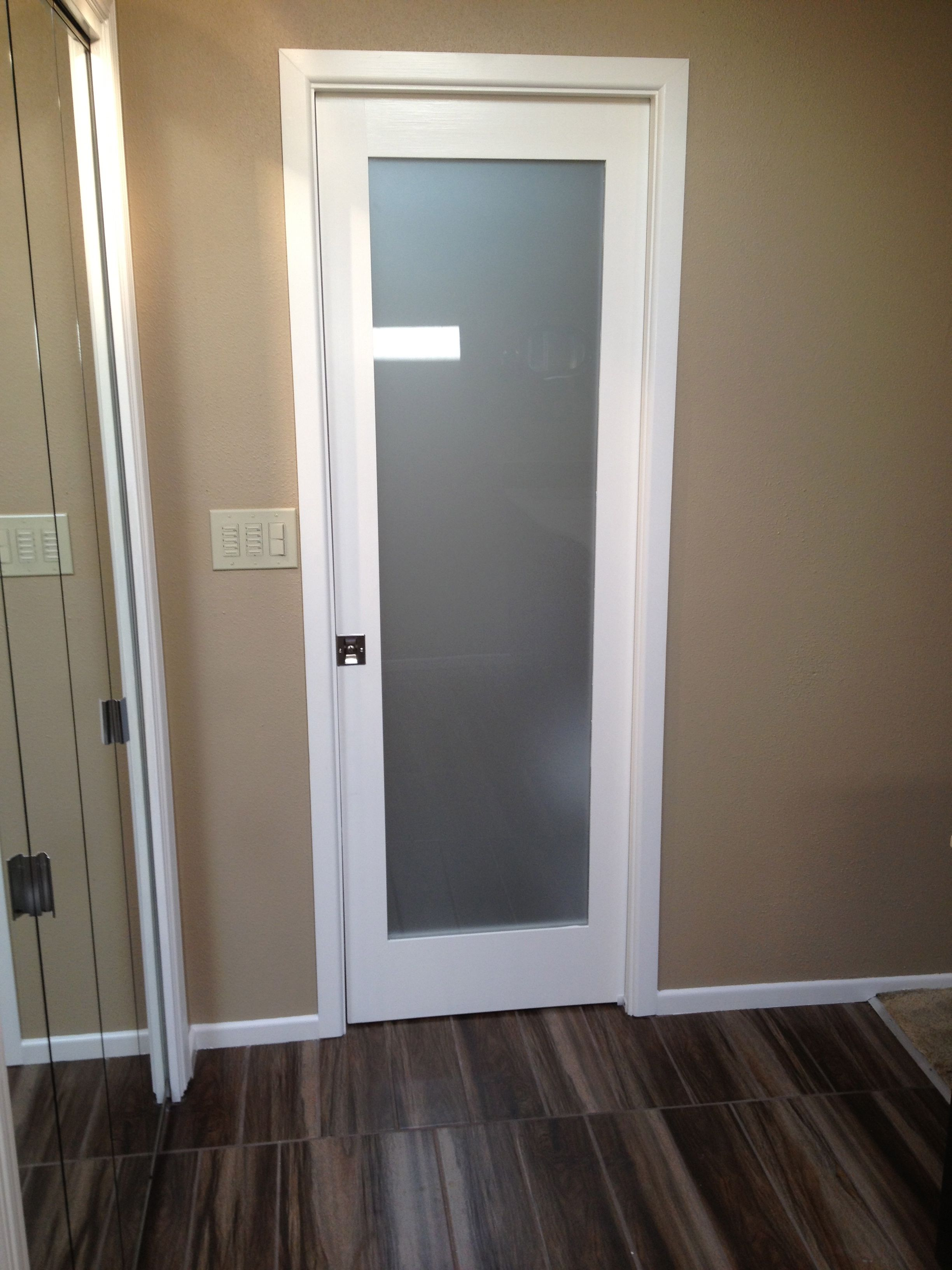 Frosted glass pocket door shore house ideas pinterest for Modern glass pocket doors