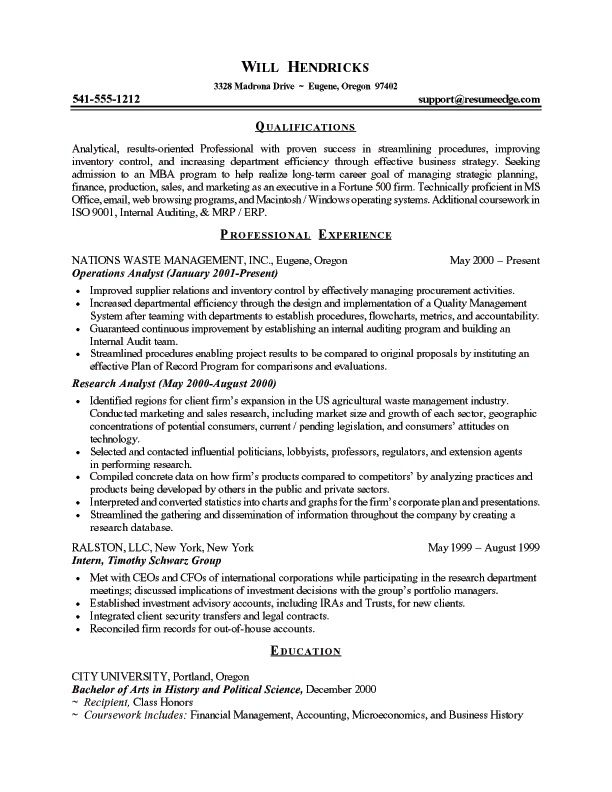 Resume For College Clubs