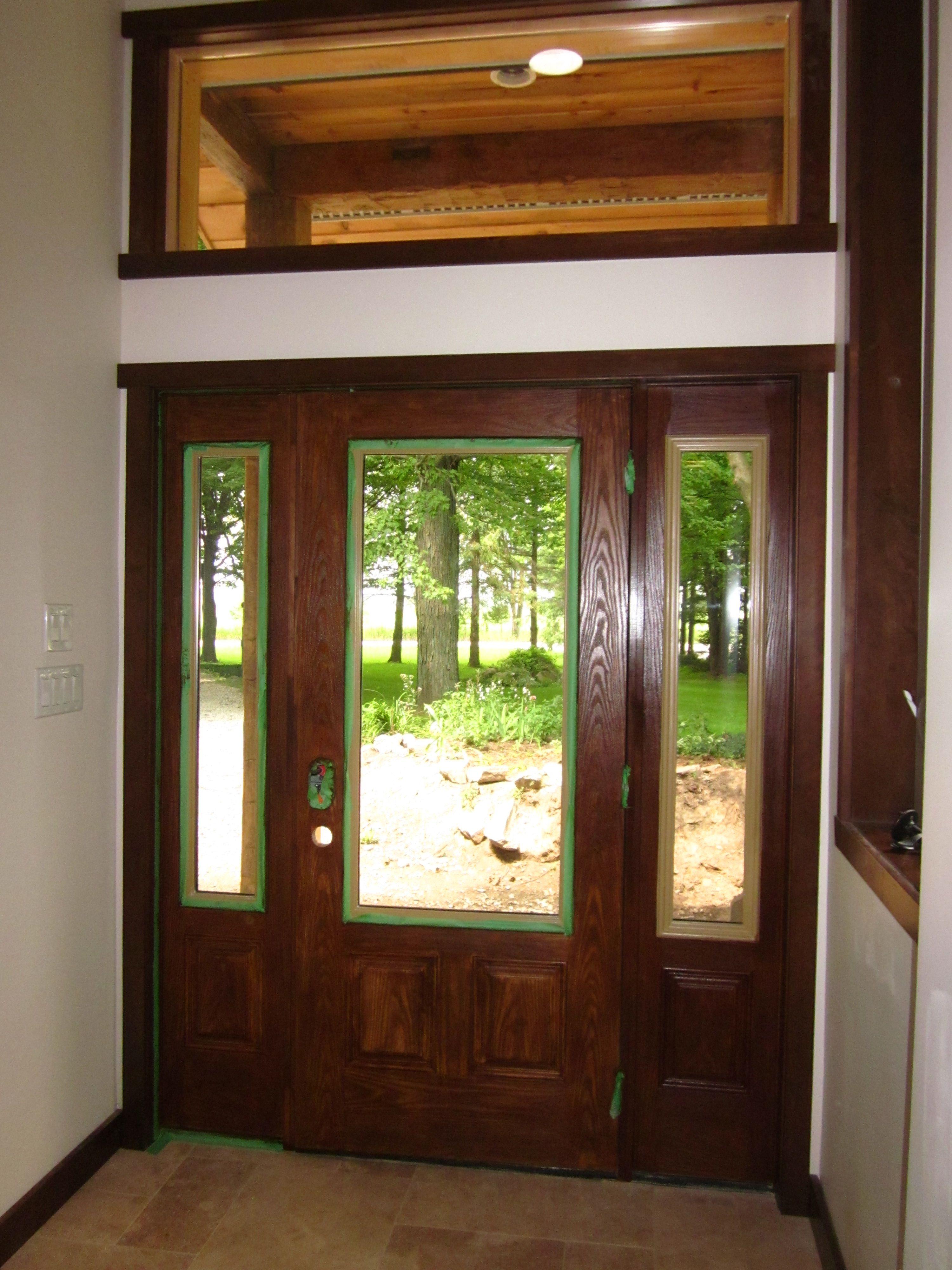 4000 #9D692E Minwax Gel Stain Fiberglass Door Gel Stained Fiberglass Door image Stainable Fiberglass Entry Doors 40233000