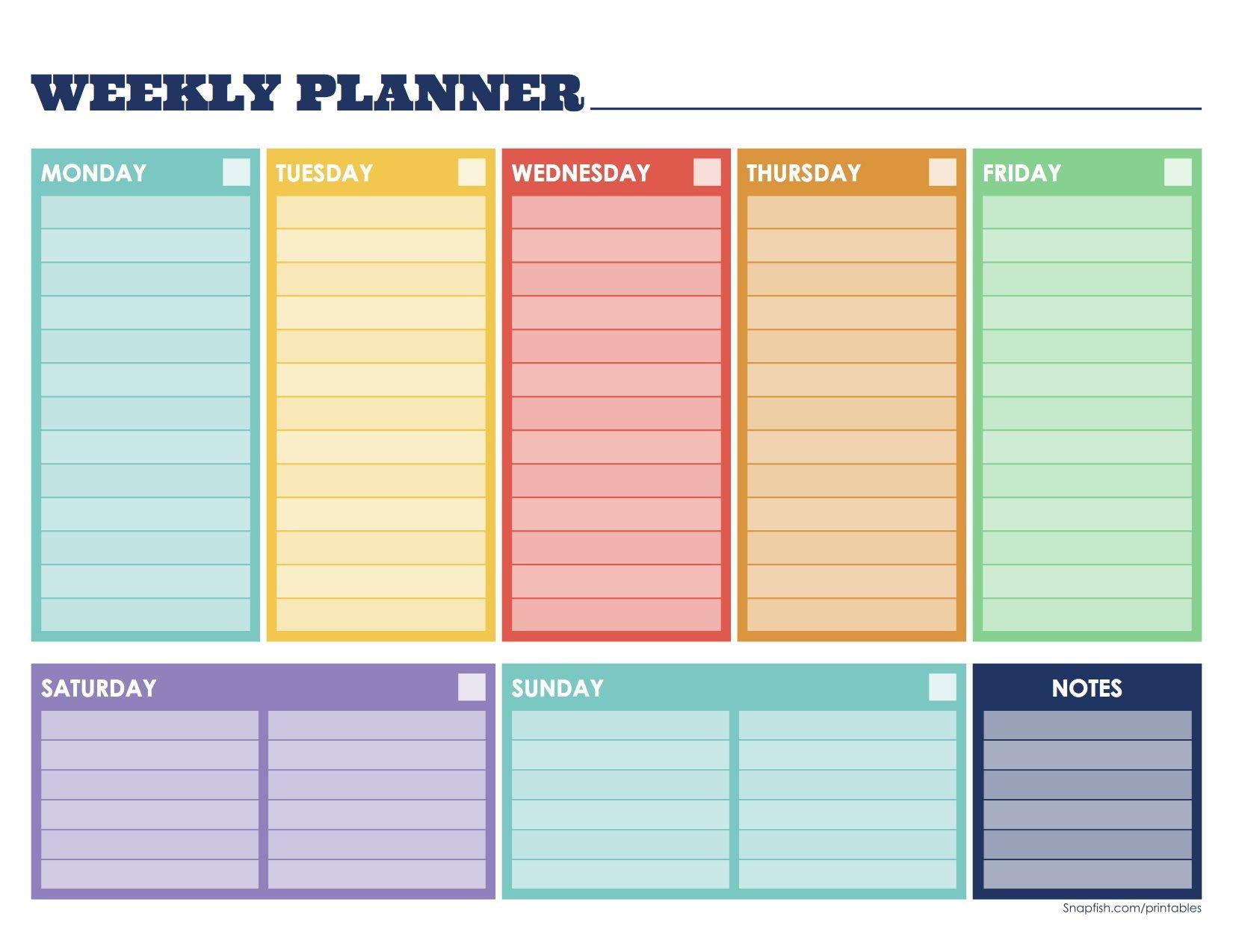 Weekly planner organization ideas pinterest for Planner pinterest