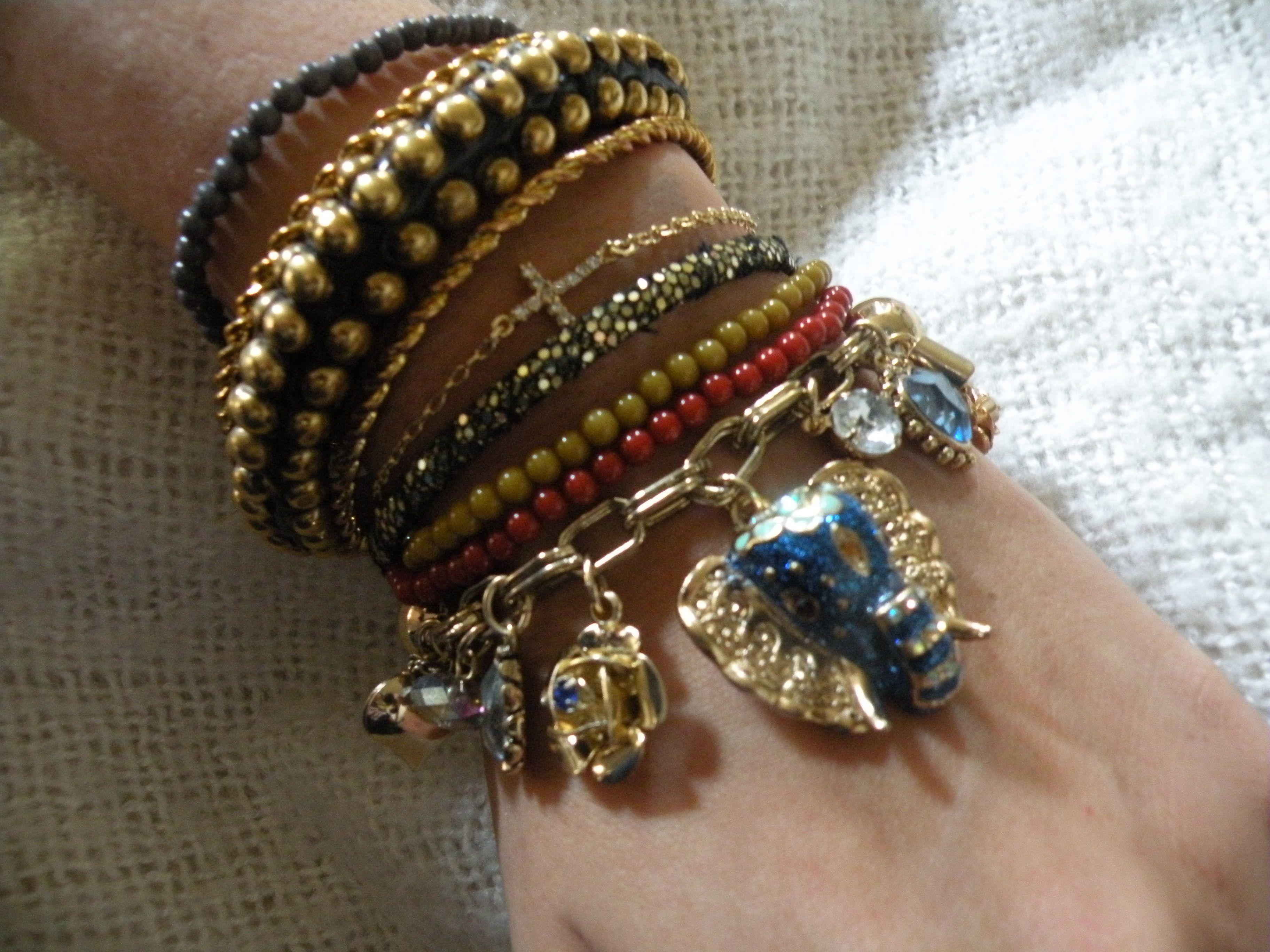 stacked bracelets | My Style | Pinterest