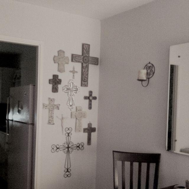 My cross wall decorating ideas pinterest for Cross wall decor ideas