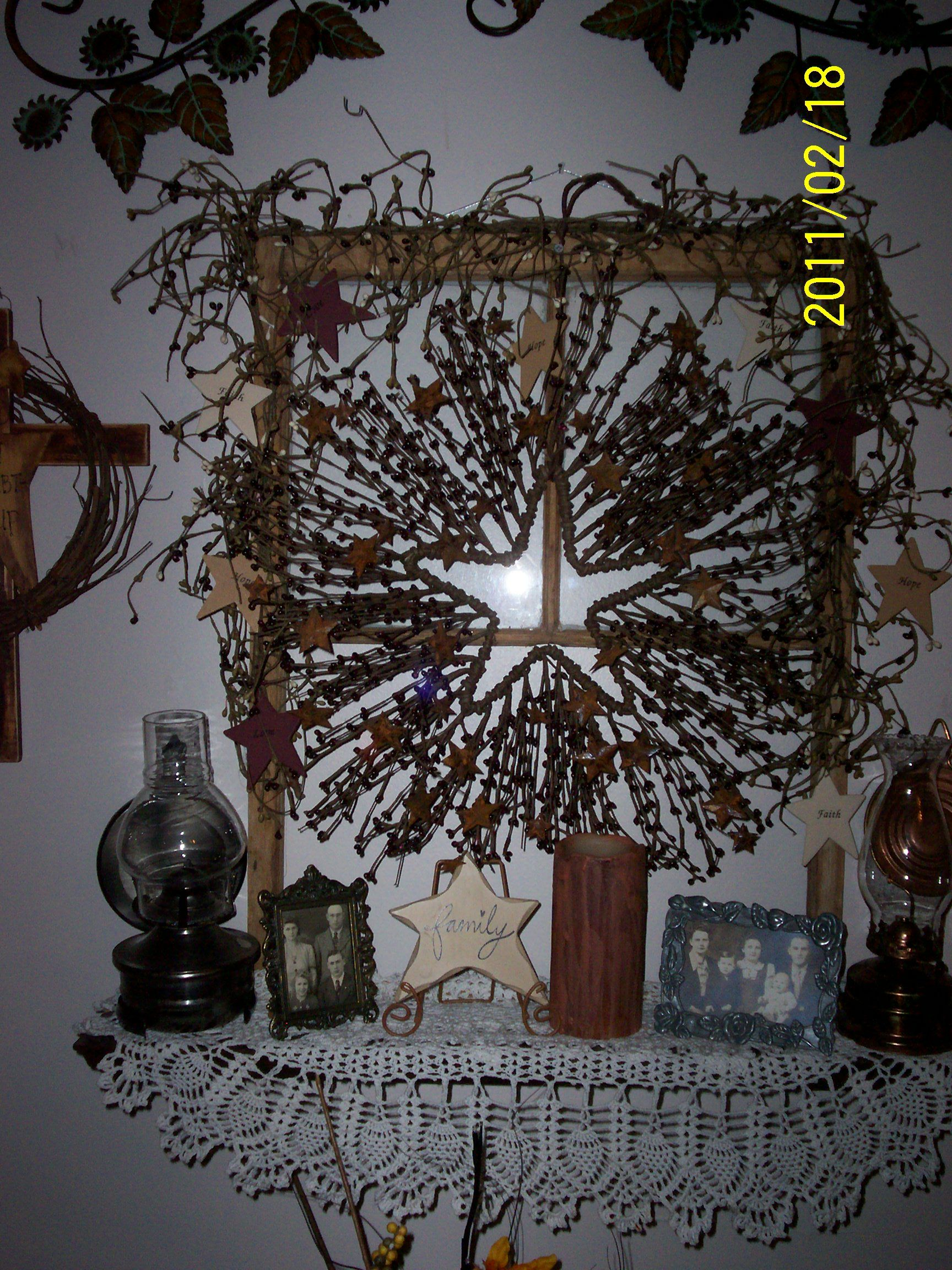 DIY Old Window Crafts Primitive