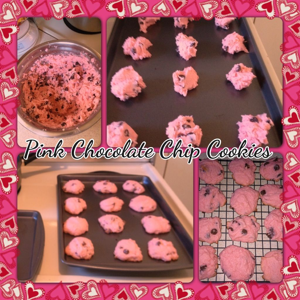 Pink Chocolate Chip Shortbread Cookies Recipes — Dishmaps