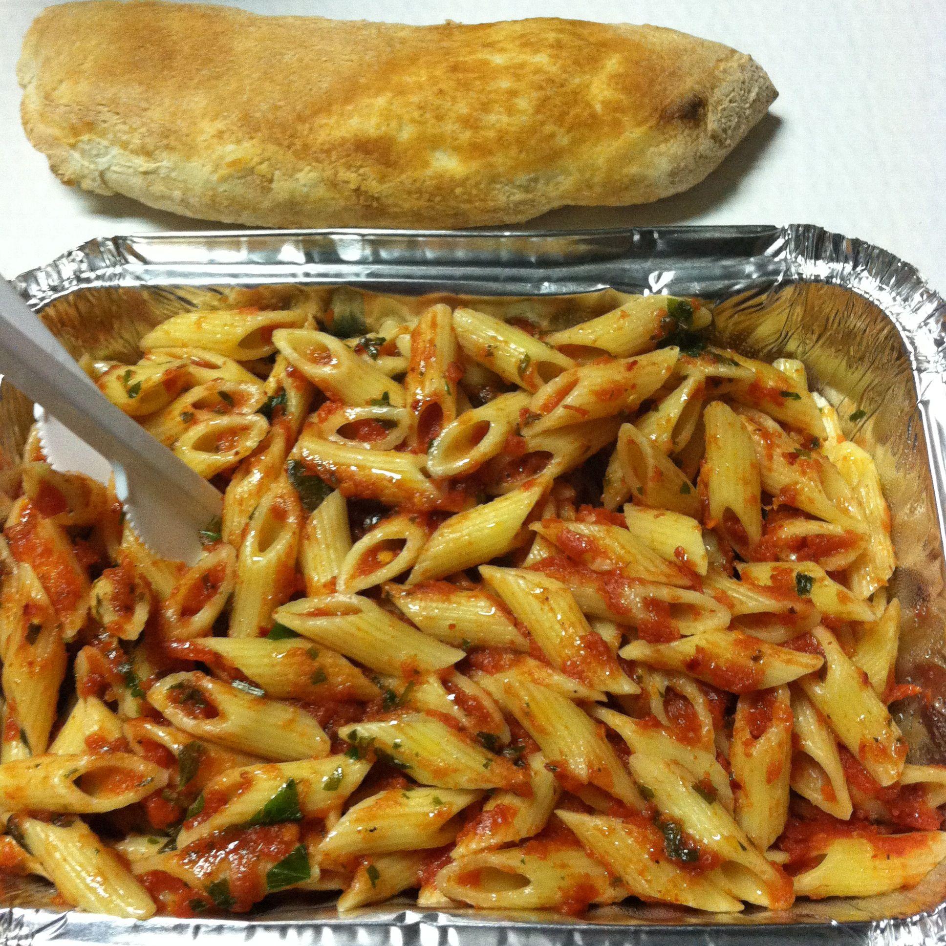 Spicy Penne pasta in Bologna, Italy | Allen & Carmen | Pinterest