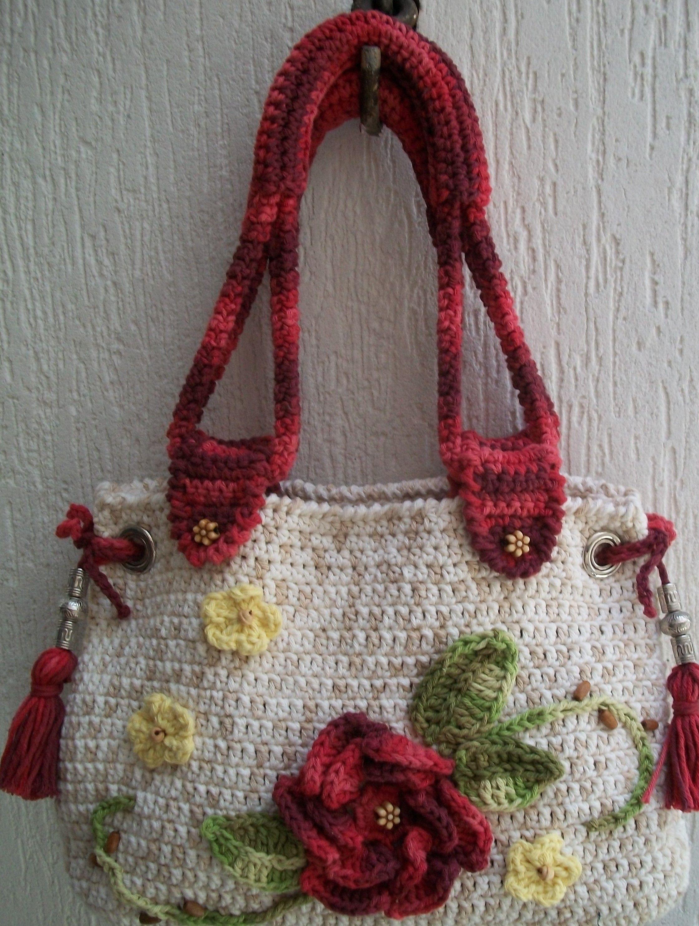 Bolsa De Mão Feita De Croche : Bolsa feita em barbante barroco crochet bags