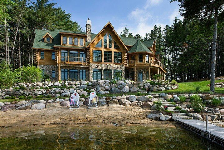 Amazing log home great homes pinterest for Maisons contemporaines de luxe