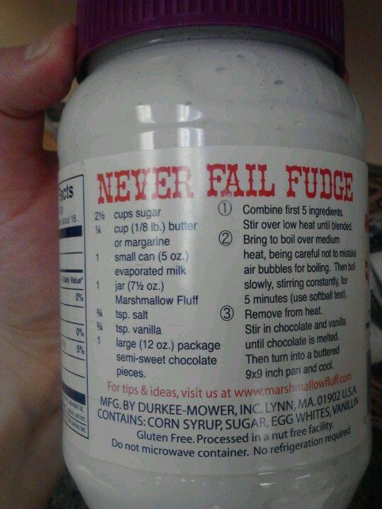 Never fail marshmallow fluff fudge | Sensational Sweets | Pinterest