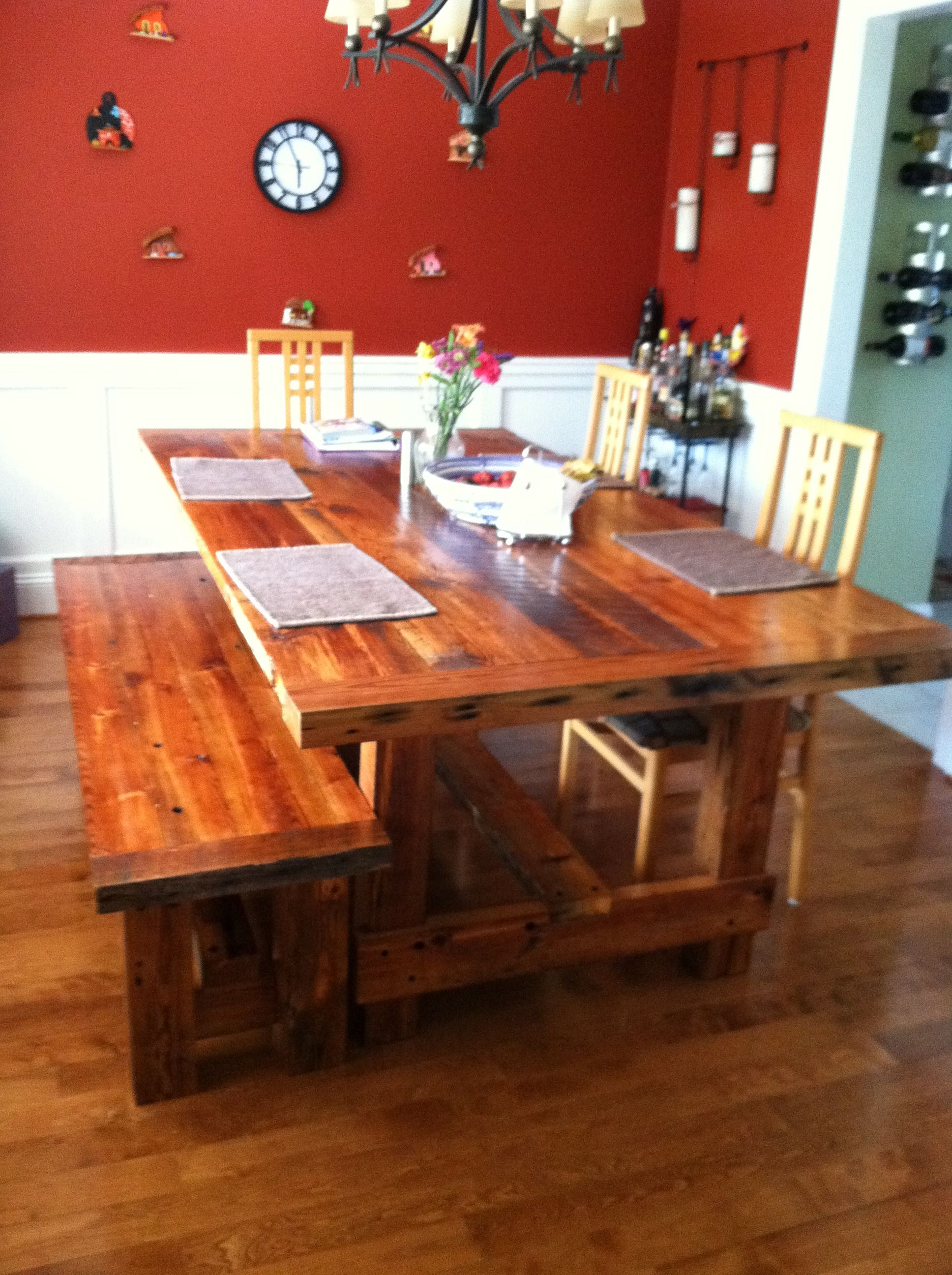 barn wood dining room table for the home pinterest
