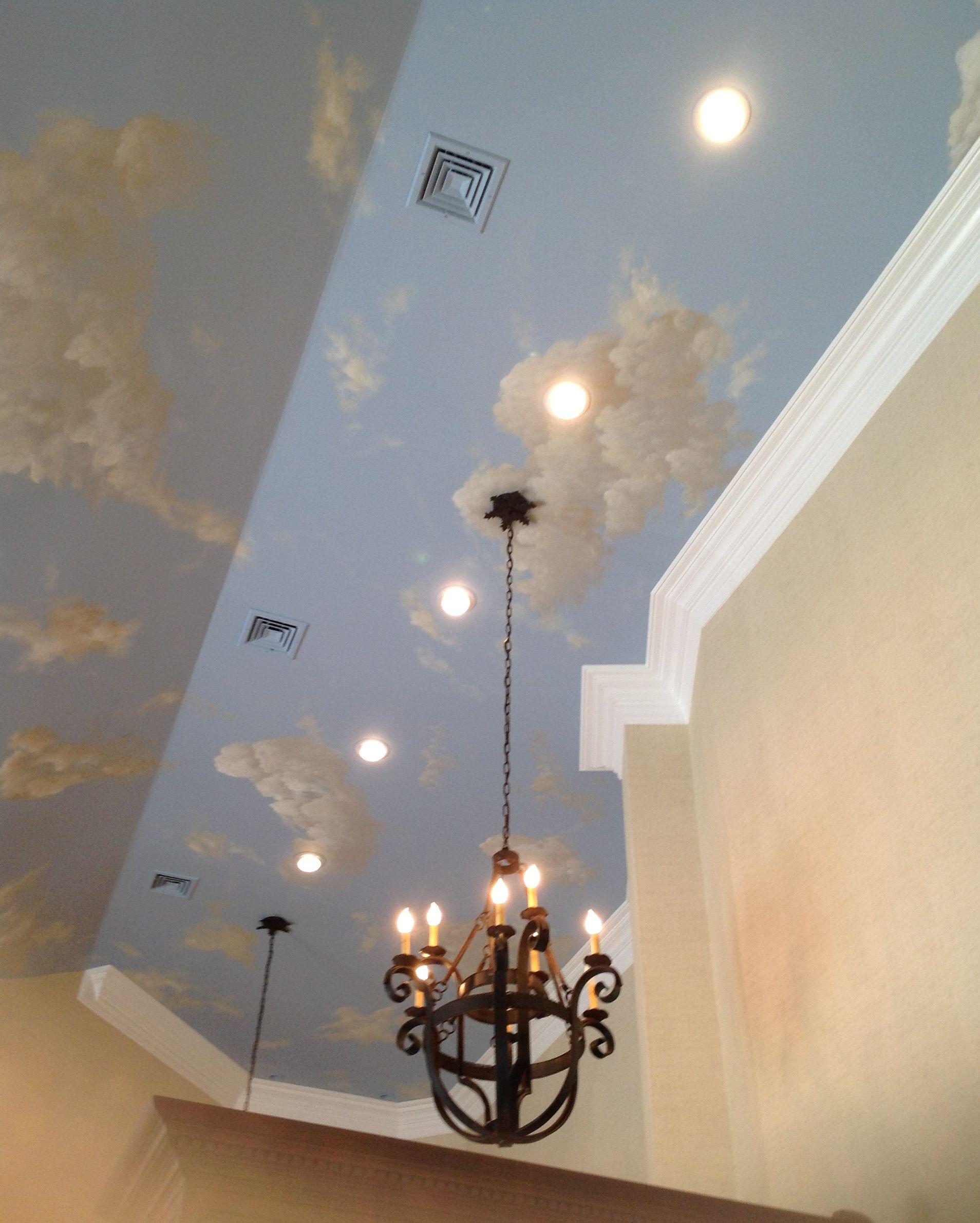 sky ceiling mural 767 pinterest