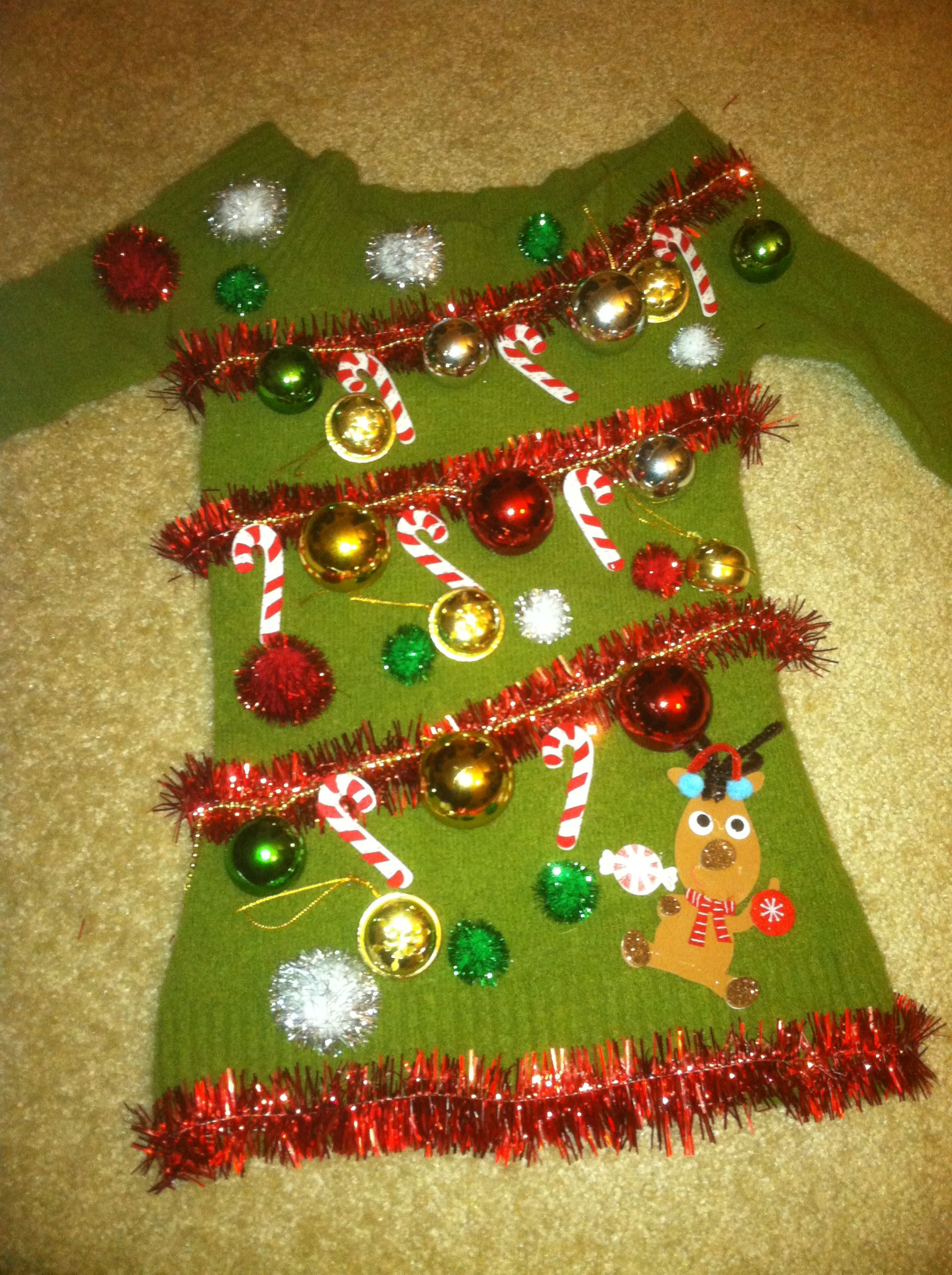 26 diy ugly christmas sweaters that prove you 39 re awesome for Decorate your own christmas decorations