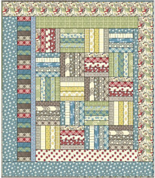 Easy Quilt Patterns For Jelly Rolls : easy pattern. Quilts Pinterest