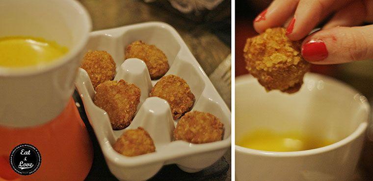 Croquetas de pollo con salsa de curry en Gastrocroquetería de Chema - restaurante Madrid