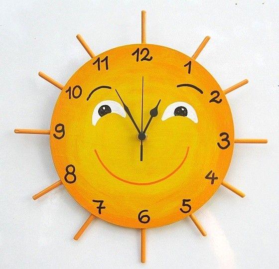Как сделать детские настенные часы