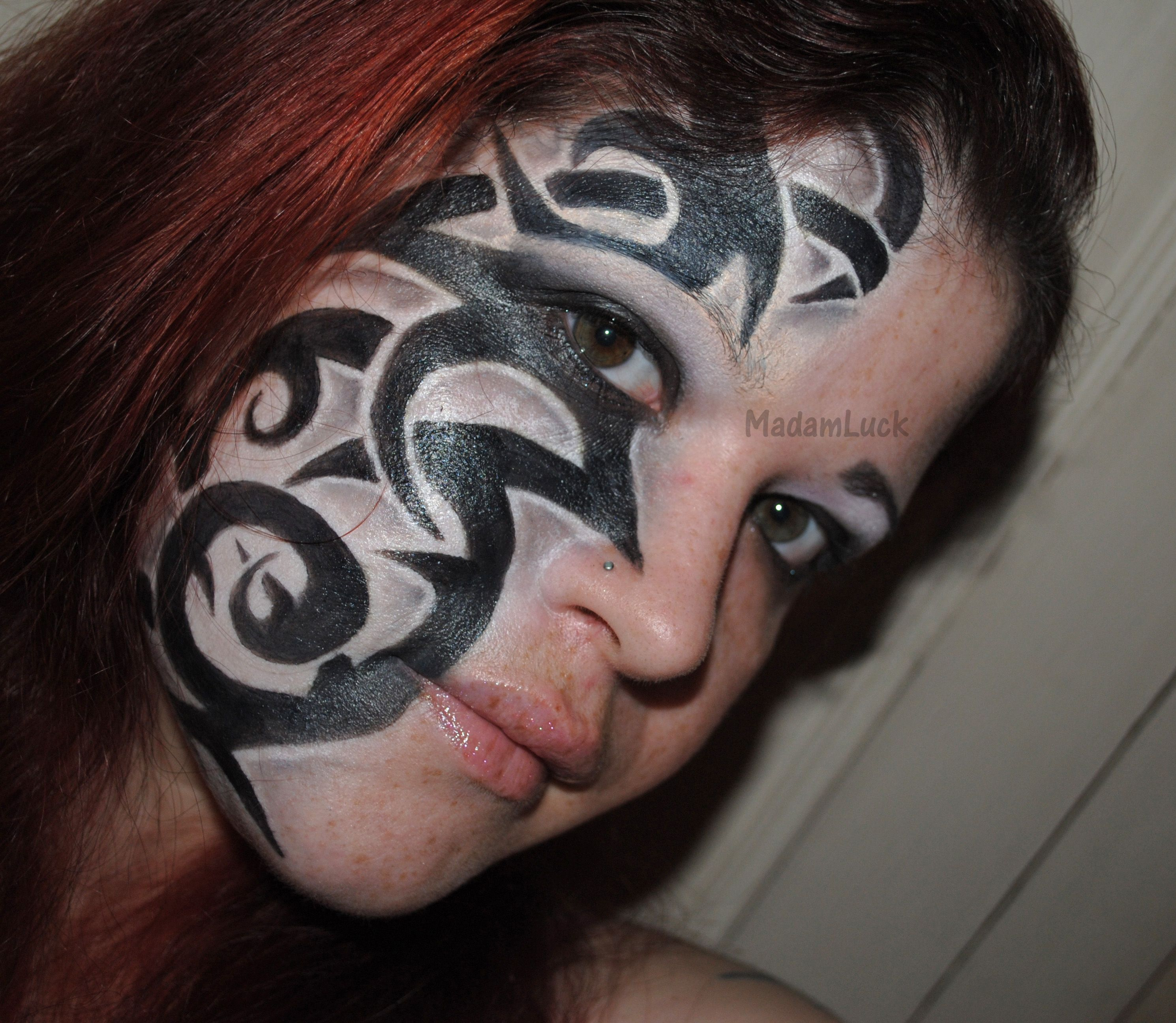 Tattoo inspired make up creative make up pinterest for Face tattoo makeup
