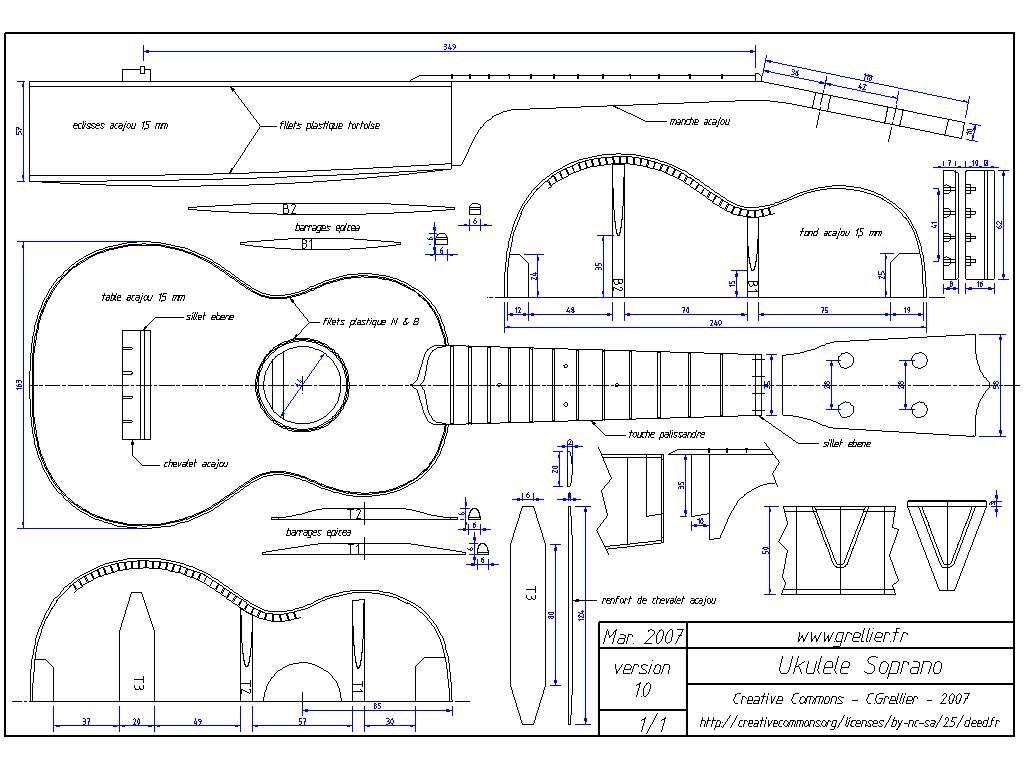 Акустическая гитара своими руками чертежи 10
