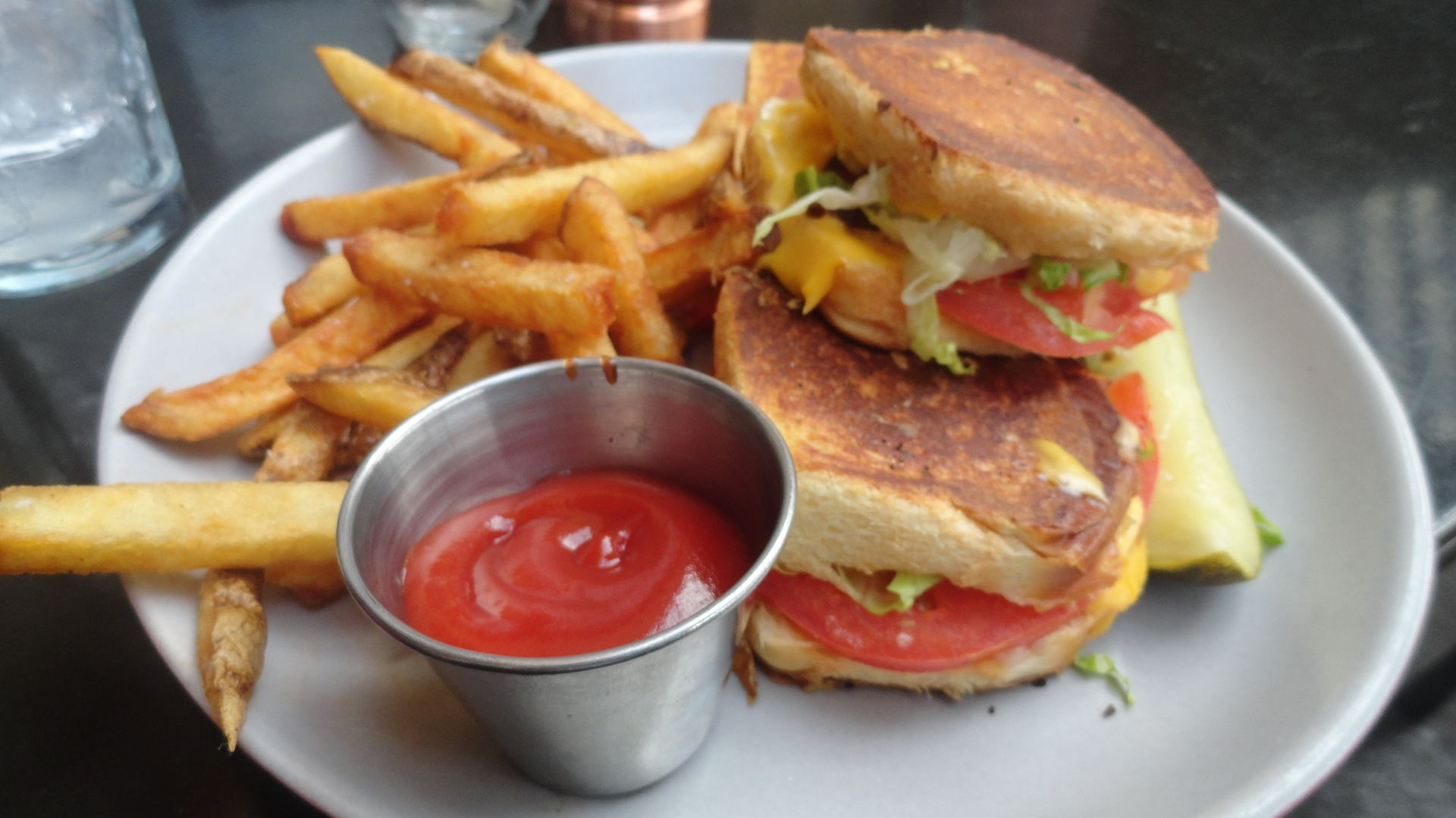 BLT grilled cheese sliders. | Lovely food or drink | Pinterest