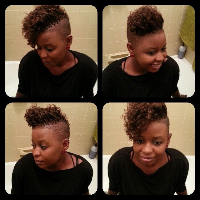 Crochet Box Braids Shaved Sides : shaved sides with curly braids Hair, hair beautiful hair Pinterest