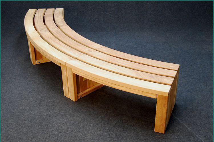 Curved Wooden Garden Bench Plans