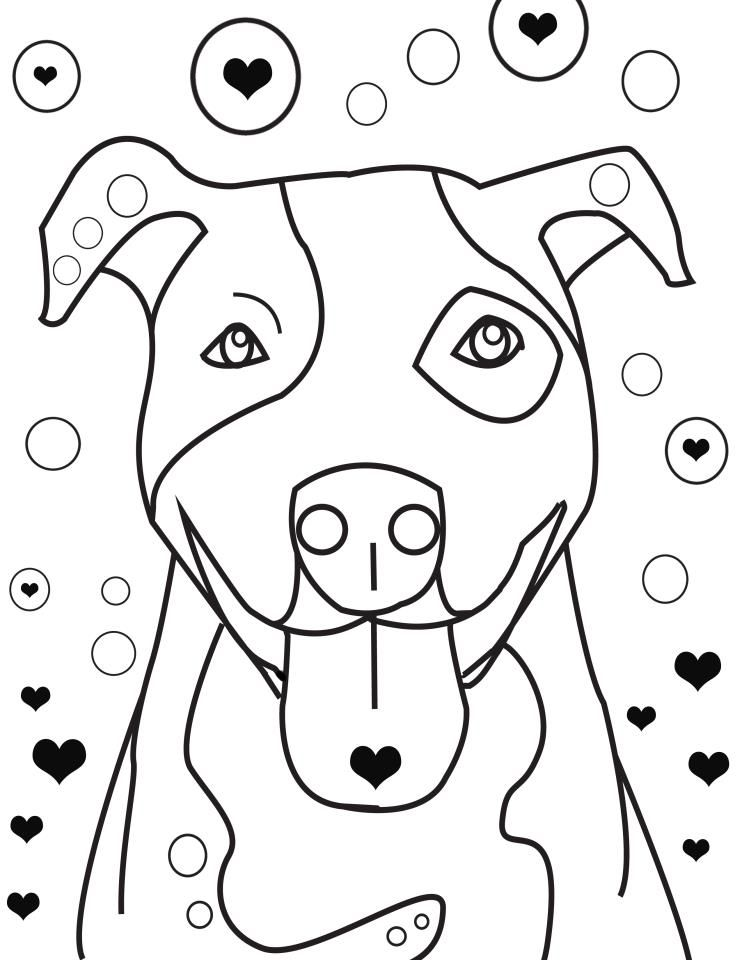 bull puppy coloring pages - photo#17