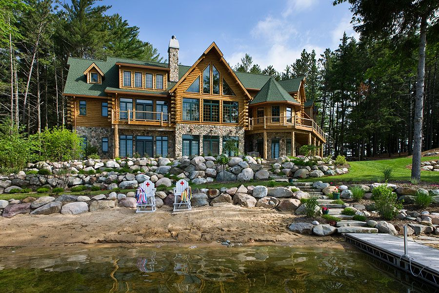 lakehouse log cabin dream homes pinterest. Black Bedroom Furniture Sets. Home Design Ideas