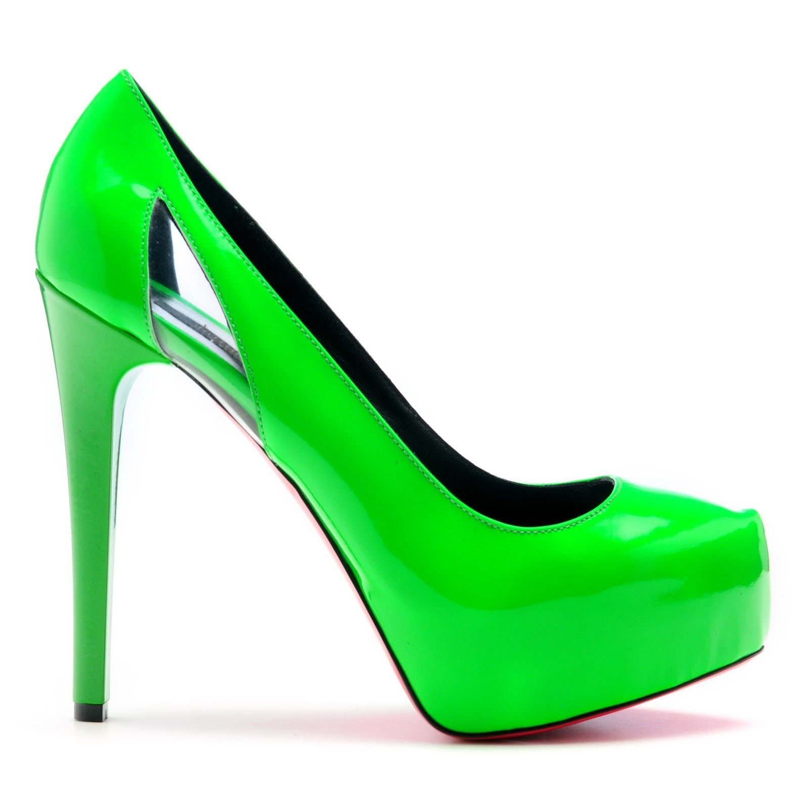 neon green wakes you up shoes