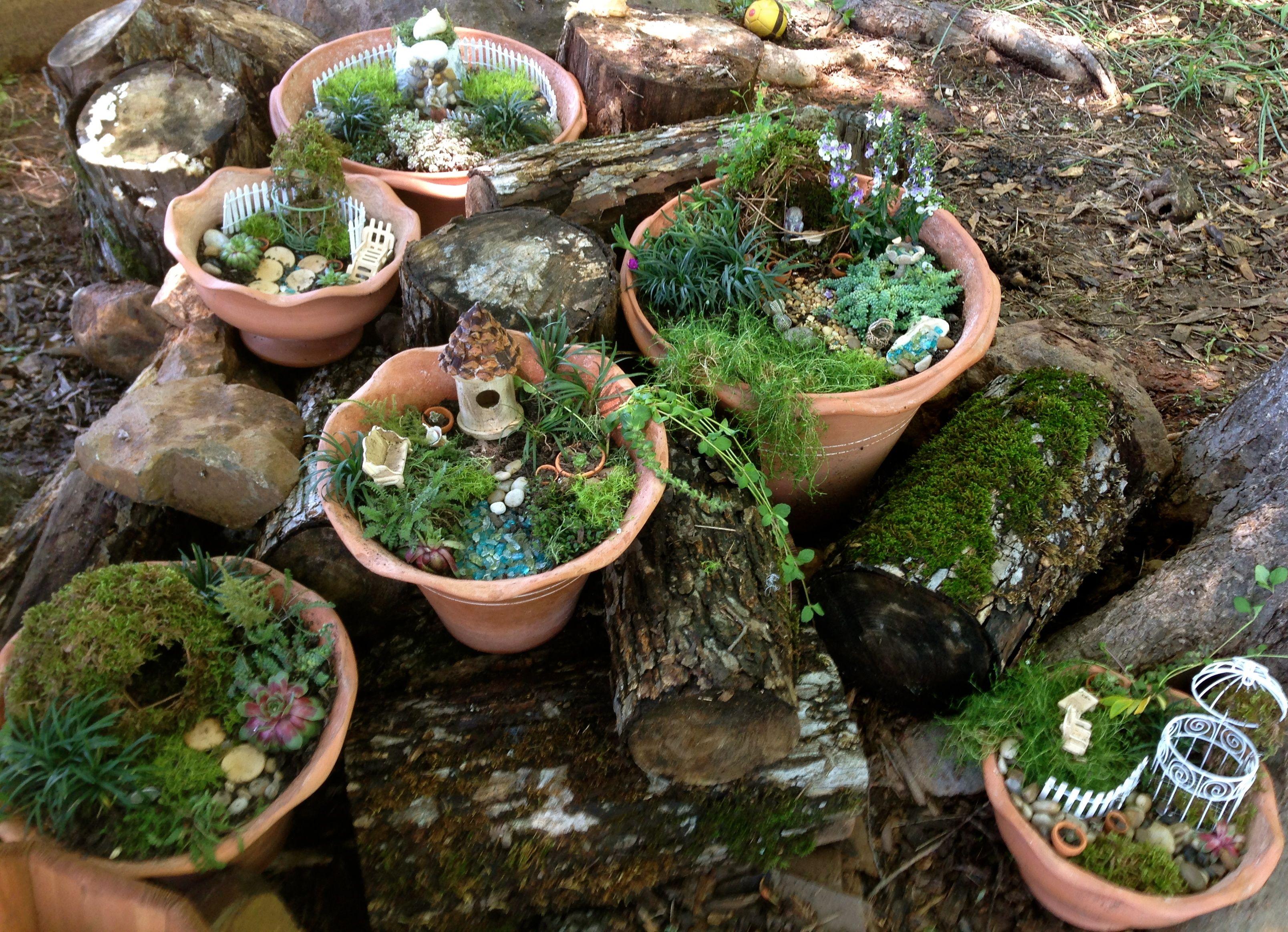 A Miniature Fairy Garden Village Home Ideas Pinterest