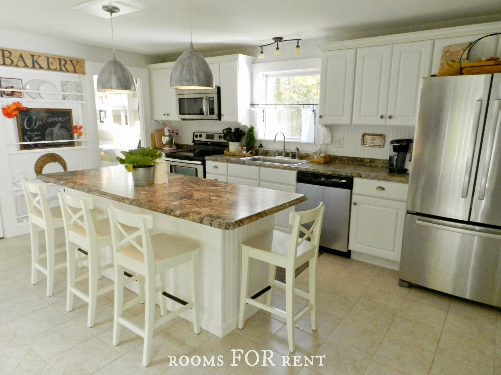 Nice white kitchen kitchens pinterest for White country cabinets kitchen