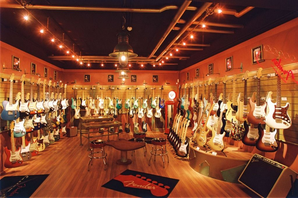 Fender custom shop germany guitar room home theater for Epic house music