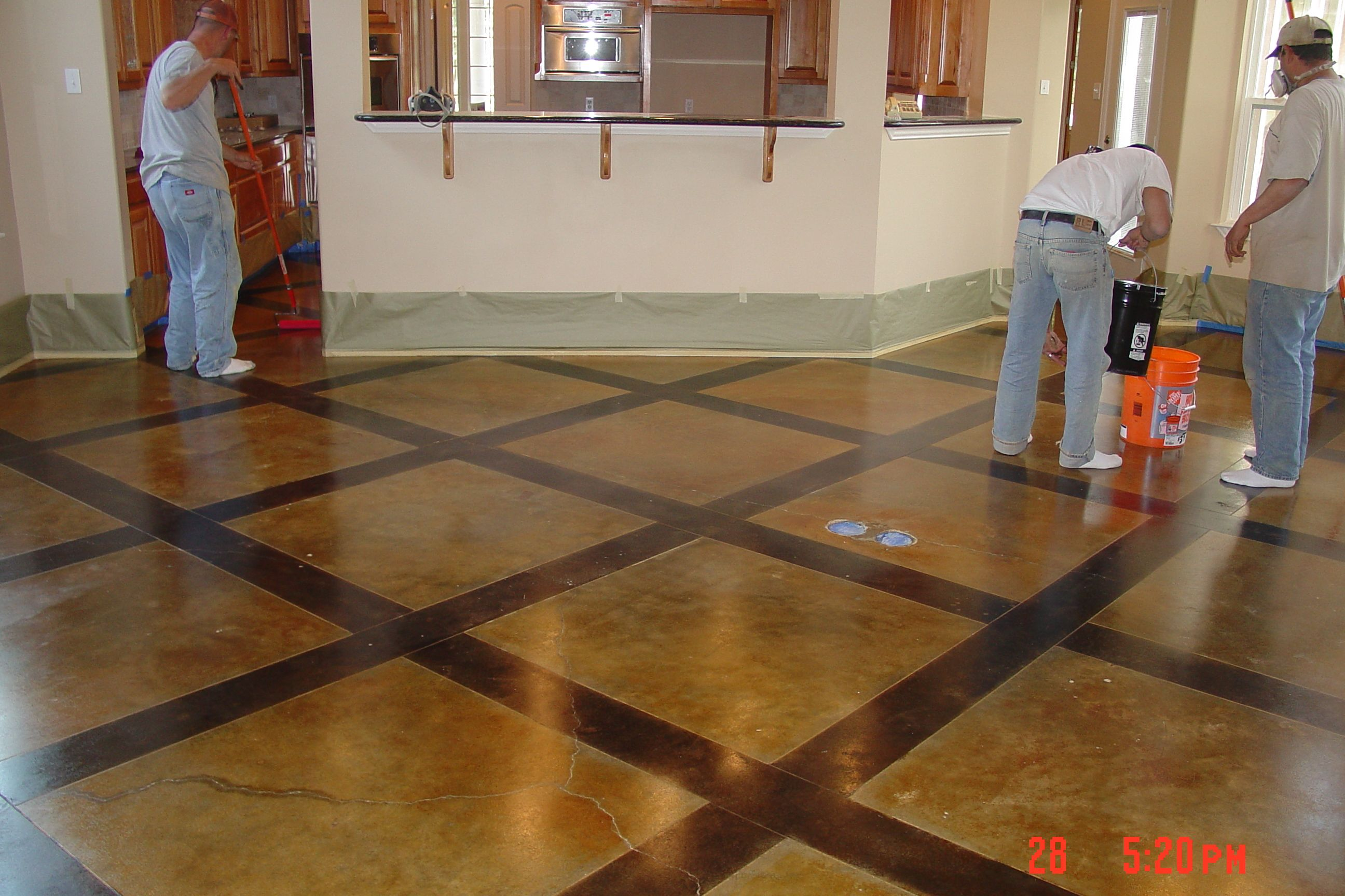 More concrete staining for the home pinterest for How to care for stained concrete floors