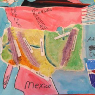 North America landform map- 2nd grade. | Landforms | Pinterest