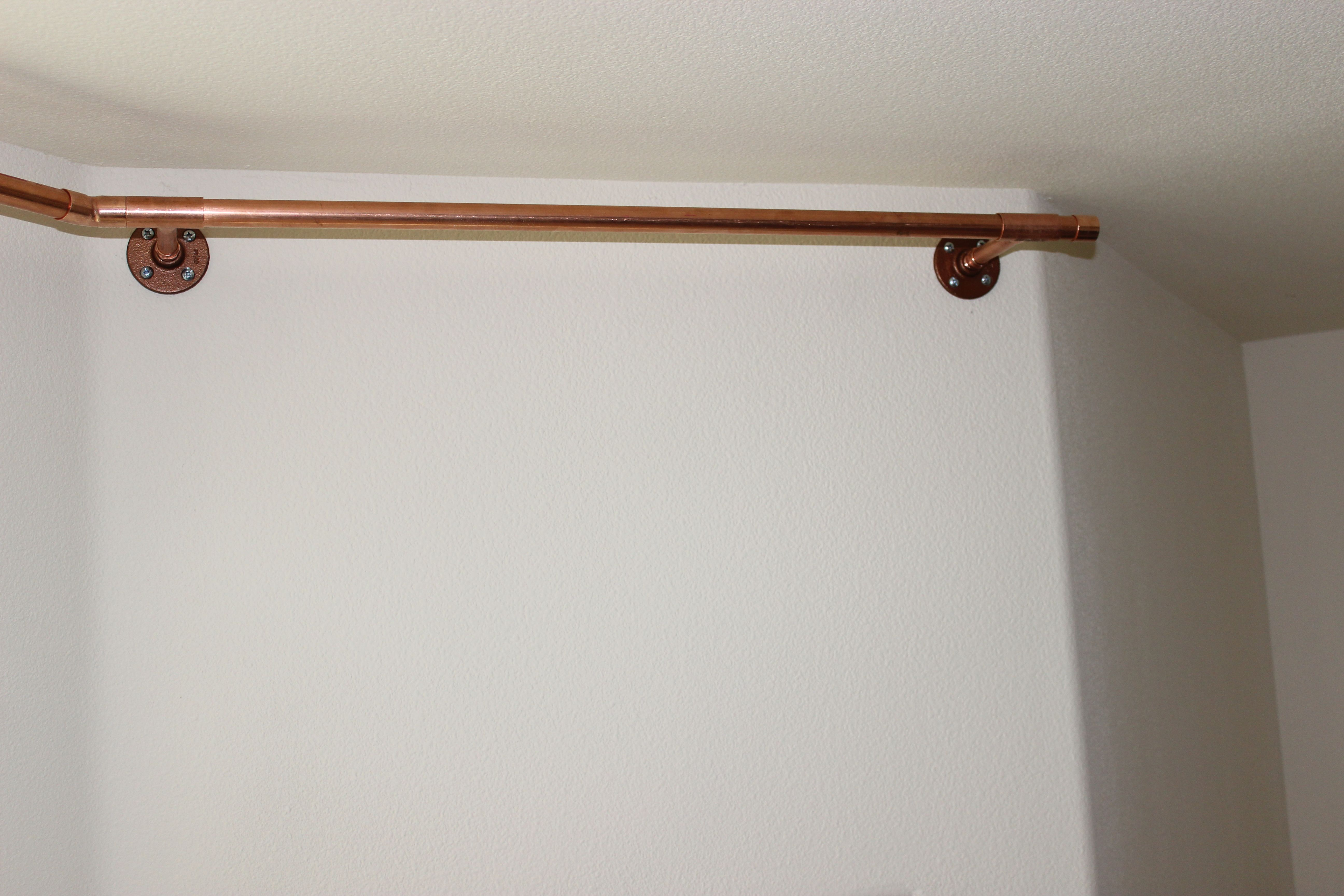 copper piping curtain rods awesome ideas diy tips