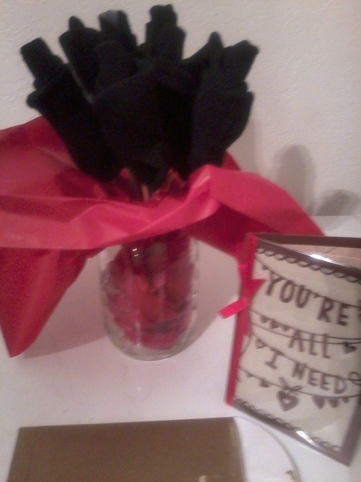 valentine sock bouquet
