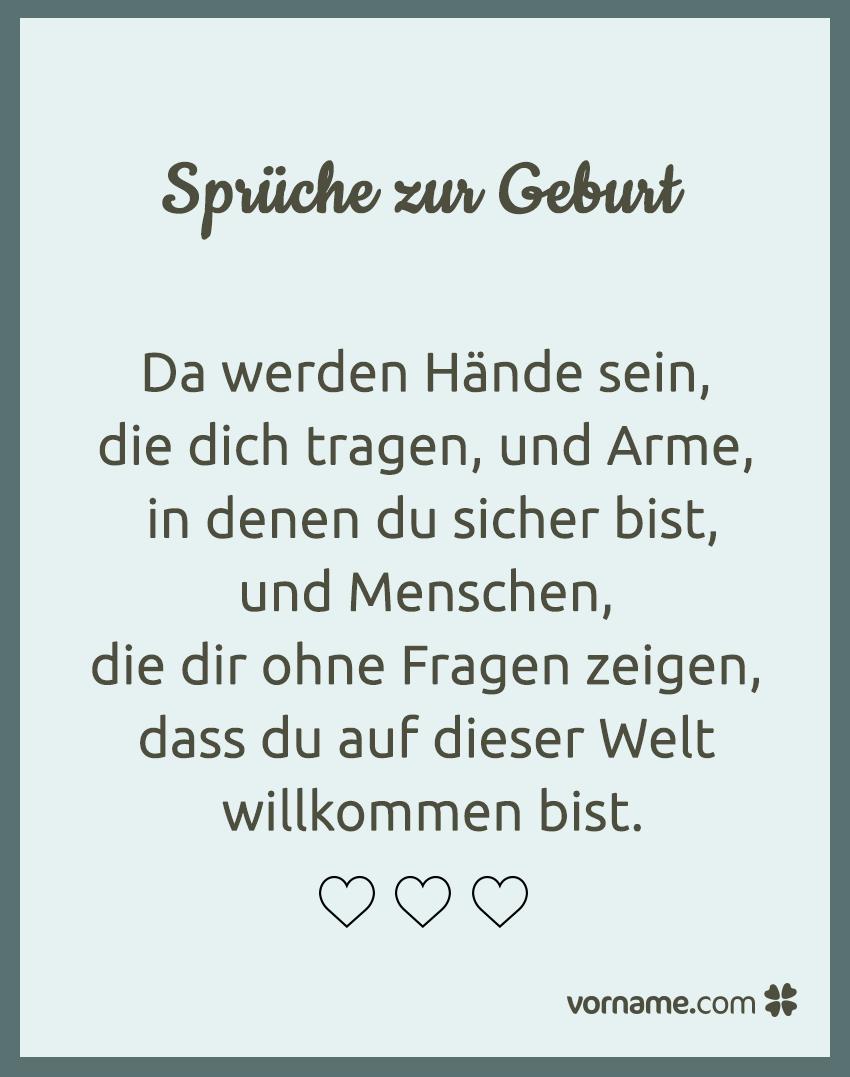 Schöne Sprüche zur Geburt | Sprüche | Pinterest | Frases de baby ...