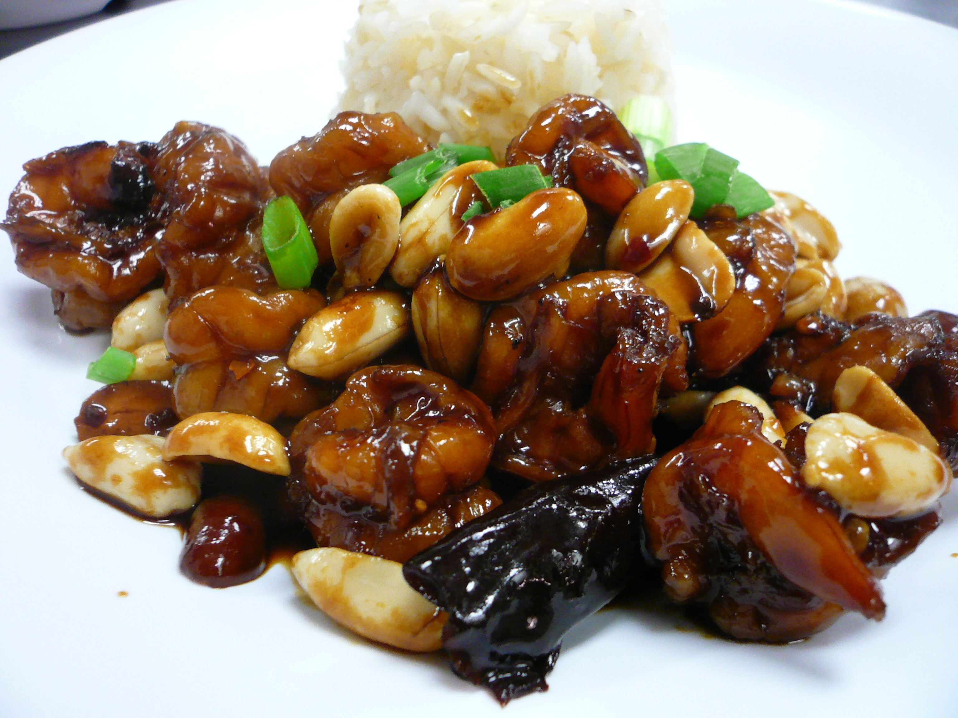 Kung Pao shrimp. | Lovely food - asian | Pinterest