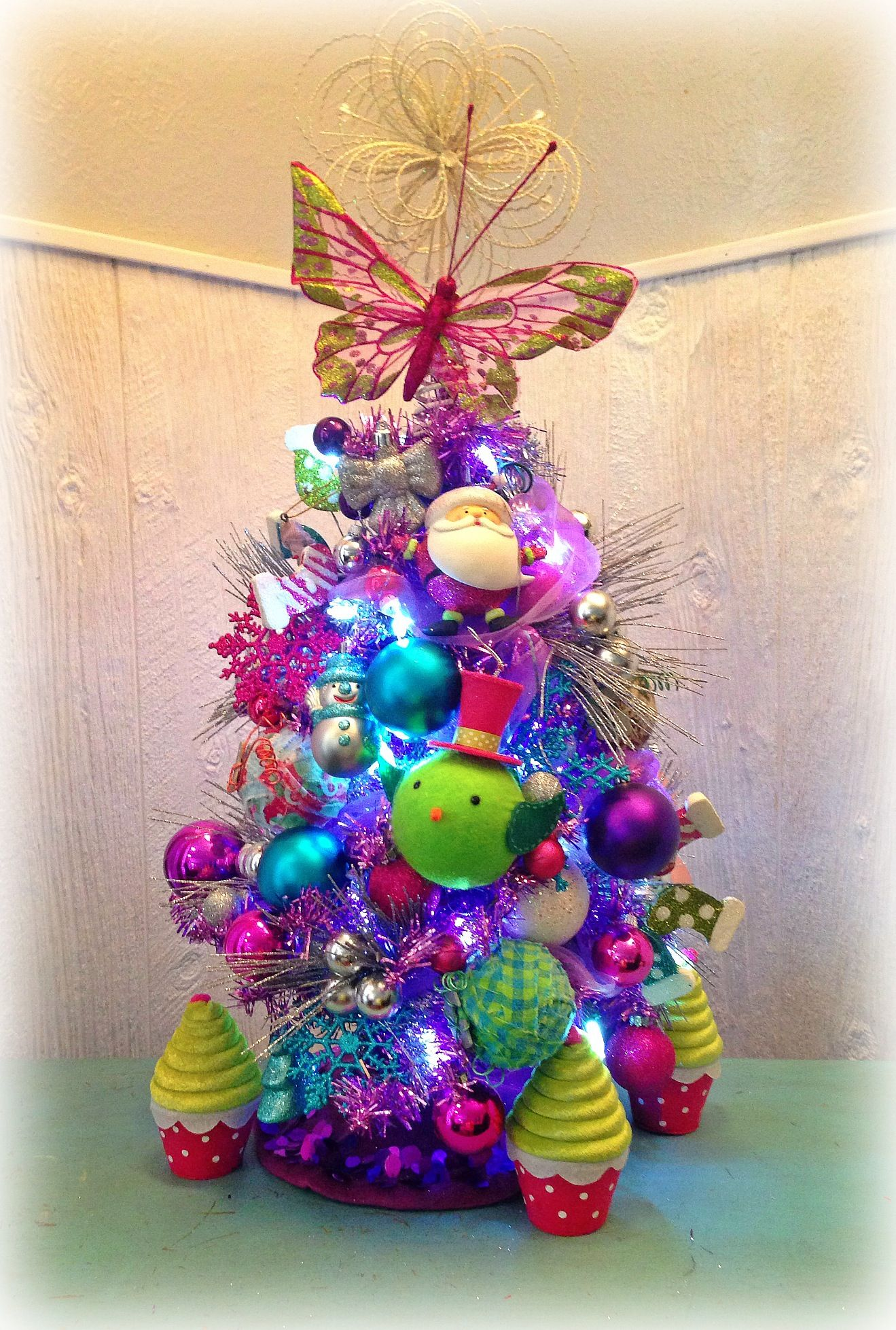 little purple christmas tree holiday magic pinterest