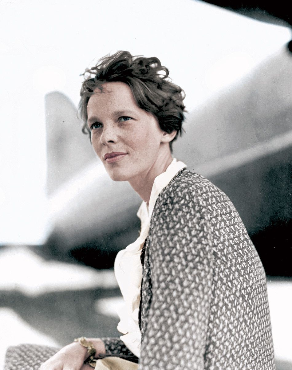 Amelia Earhart (colorized) | People and Portraits | Pinterest