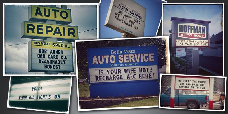Auto mechanic shop sign