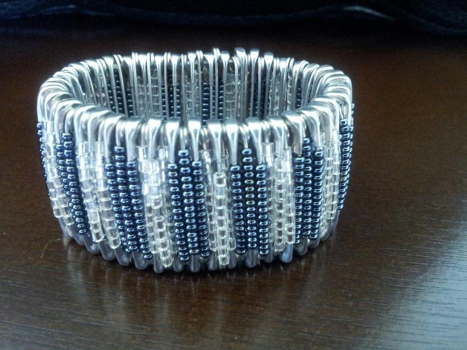 New safety pins bracelet jewelry pinterest