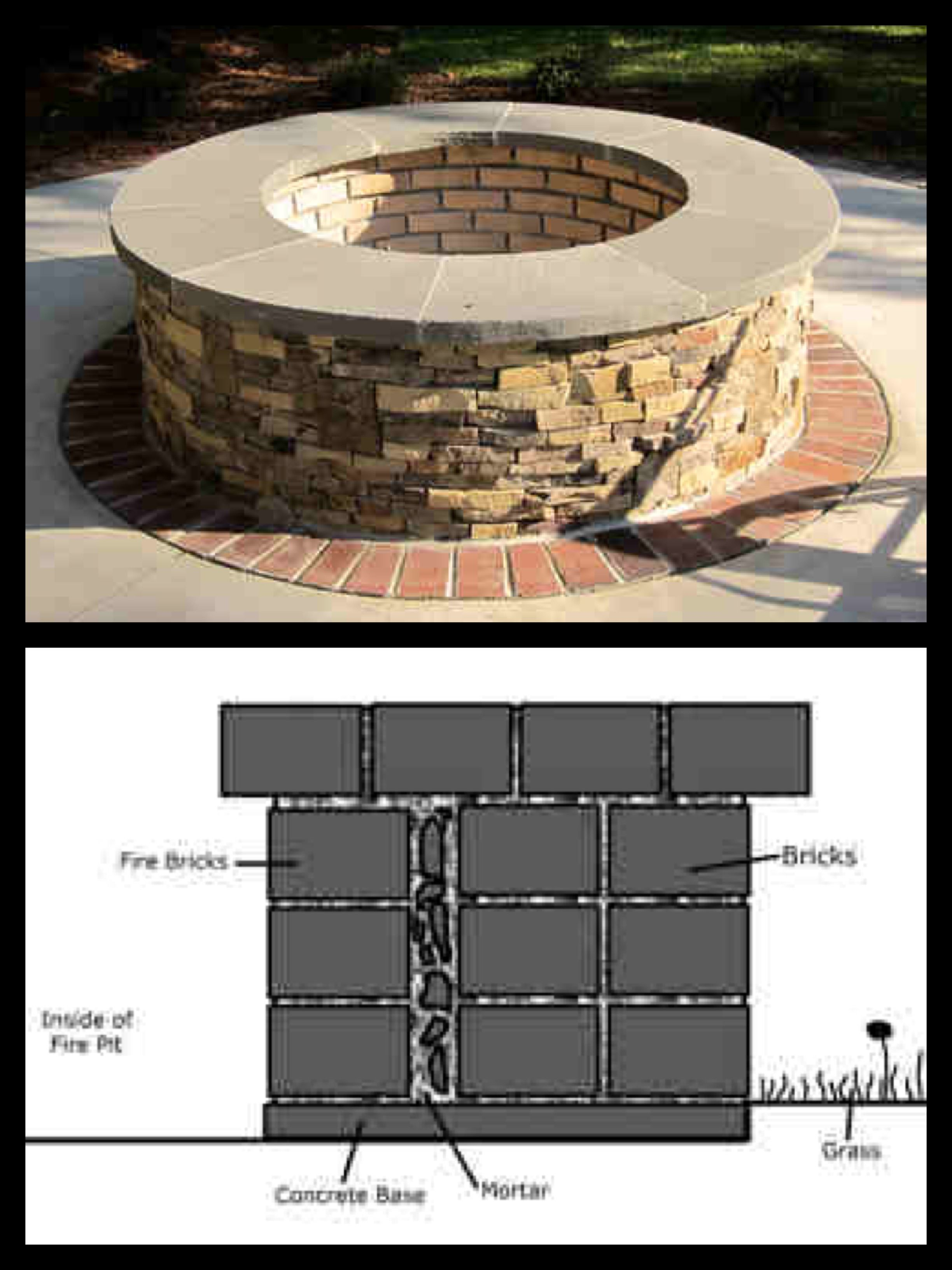 unique image of fire pit bricks furniture designs furniture
