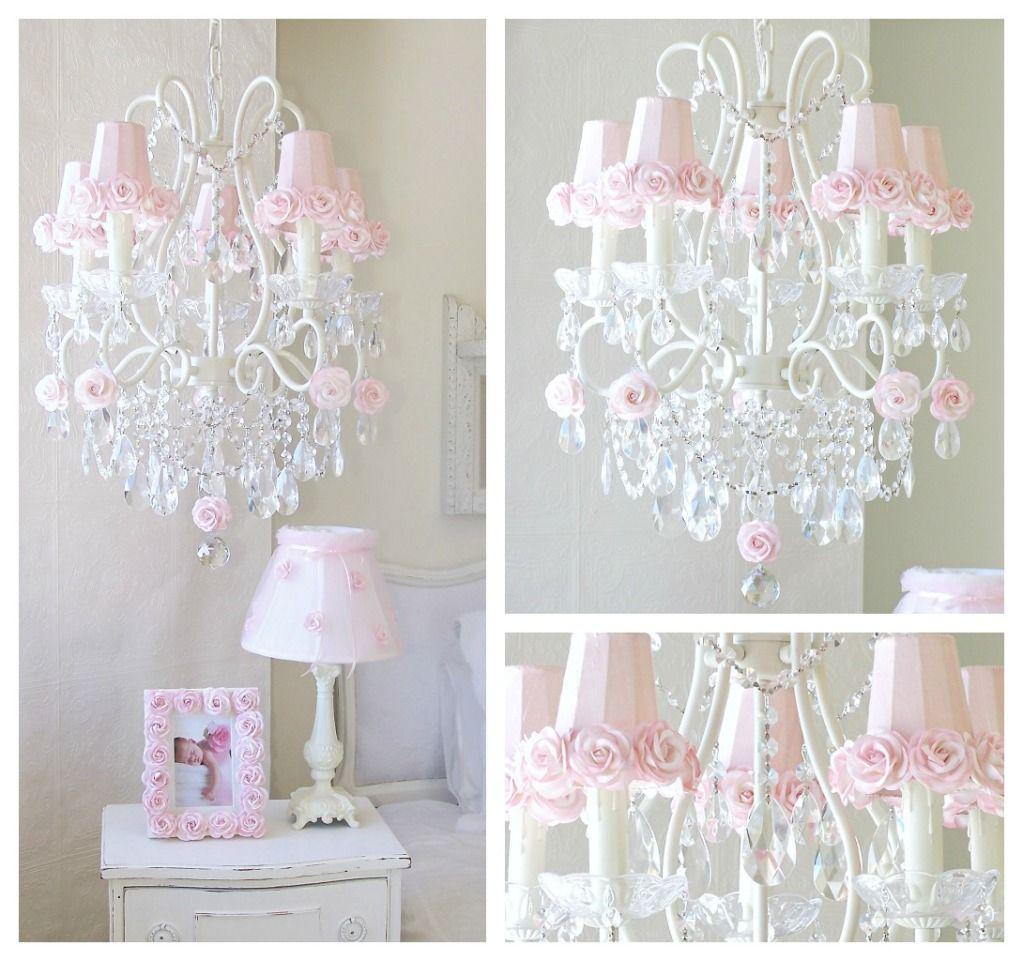 Gorgeous Chandelier Shabby Chic Girls Bedroom Pinterest