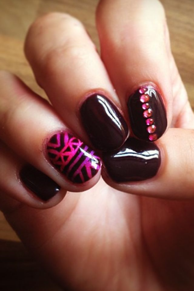 beautiful shellac nail design nails pinterest