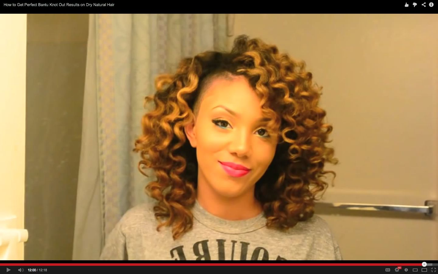 Bantu Knot Out On Natural Hair