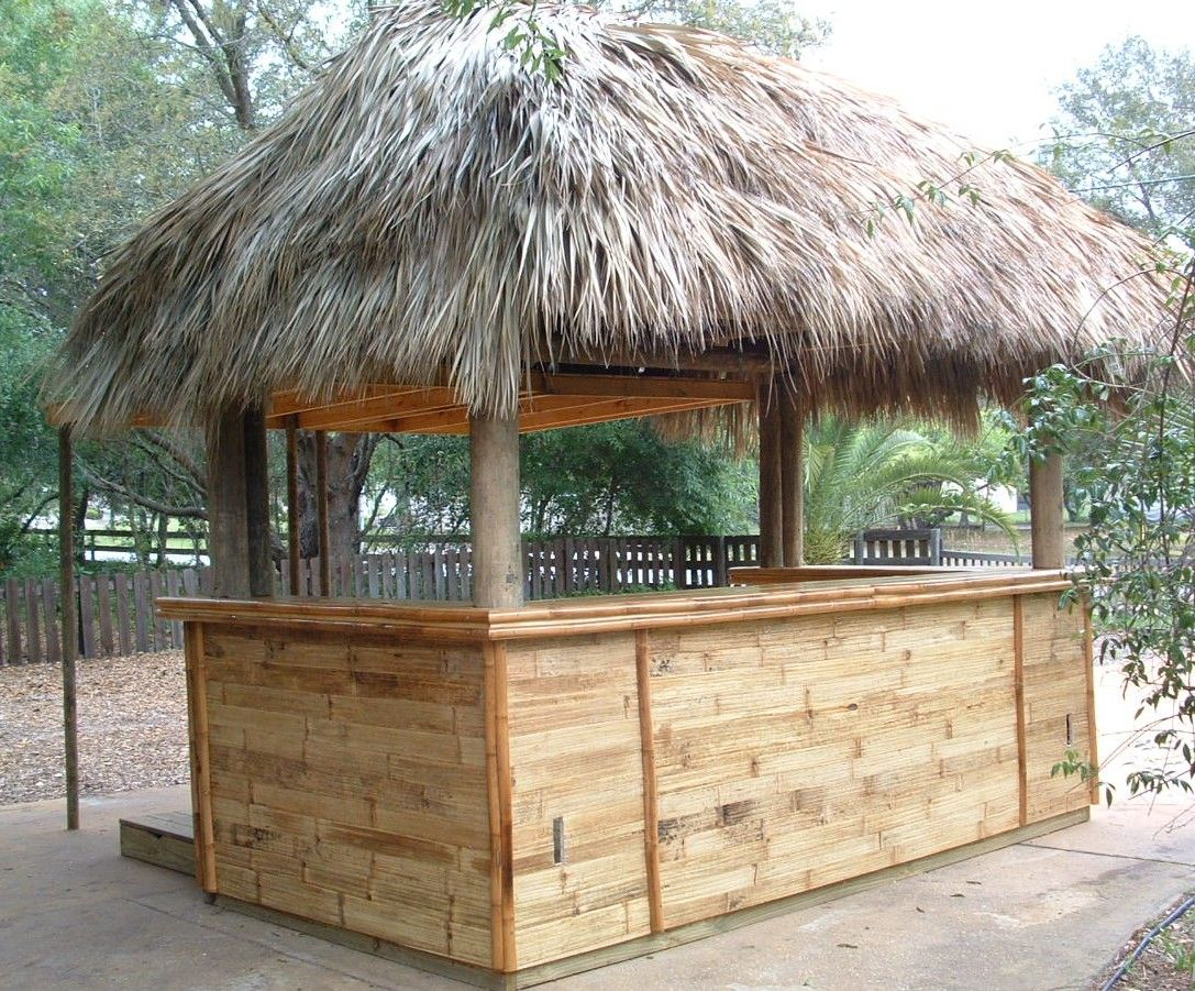 Tiki hut for drinks caa prom 2013 travel to paradise island pint - Bamboo bar design ideas ...