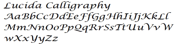 Lucida Calligraphy Alphabets2 Pinterest